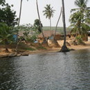 Village at Volta river, Ghana (by courtesy of Arne Homann)
